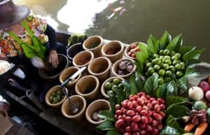 Thai food at floating market